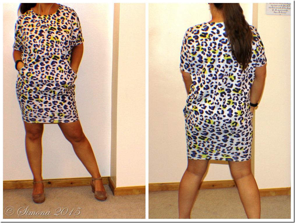 drapey dress animal print