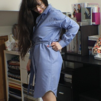 Chambray Shirt Dress #sewtogetherforsummer