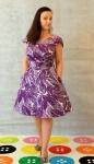 Linen Viscose Crepe dress